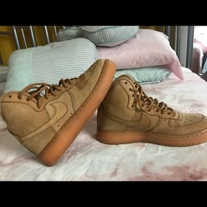 "Air Force 1 high 07 also known as ""wheats"""